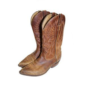 Vintage Western Leather Cowboy Boots